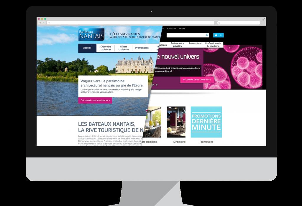 Redesign graphique du site E-commerce des Bateaux Nantais