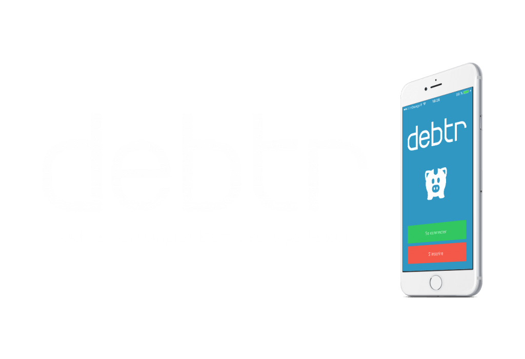 Design du logo de l'application mobile Debtr