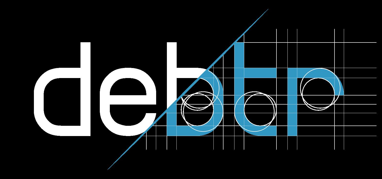 Design du logo en phase de construction de la startup Debtr