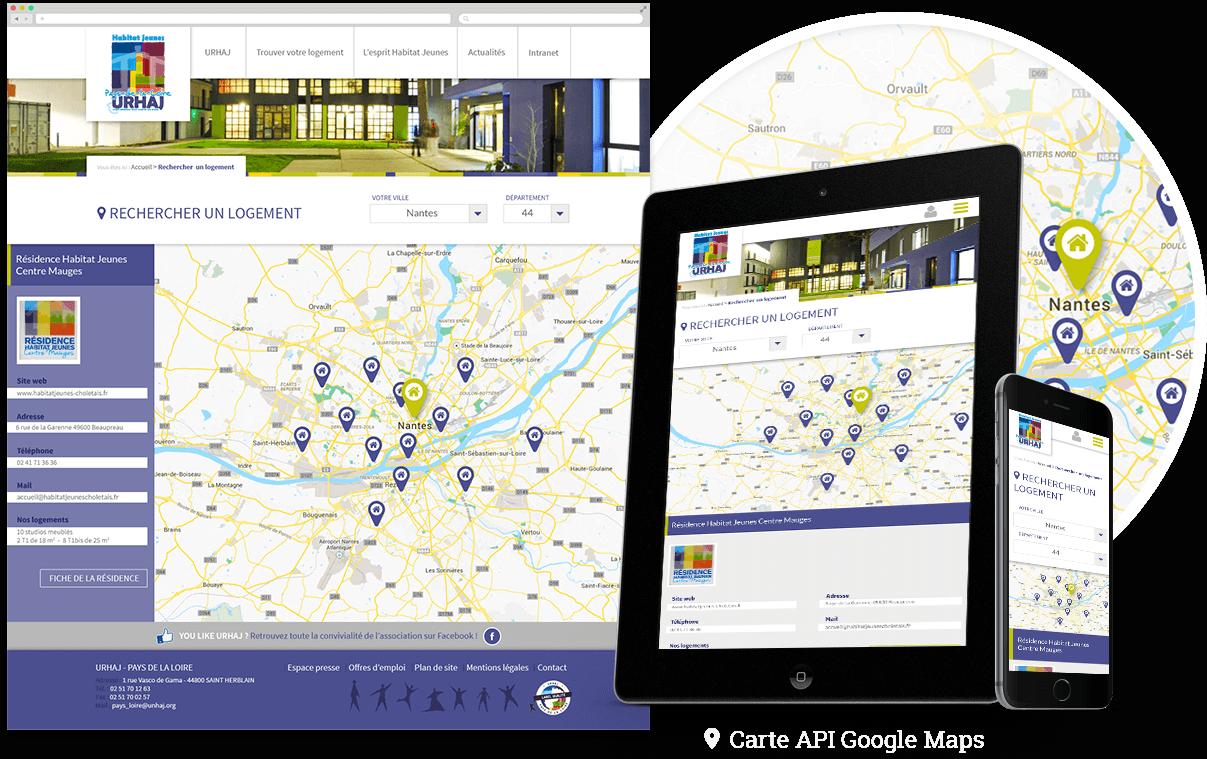 API Google Maps pour rechercher un logement