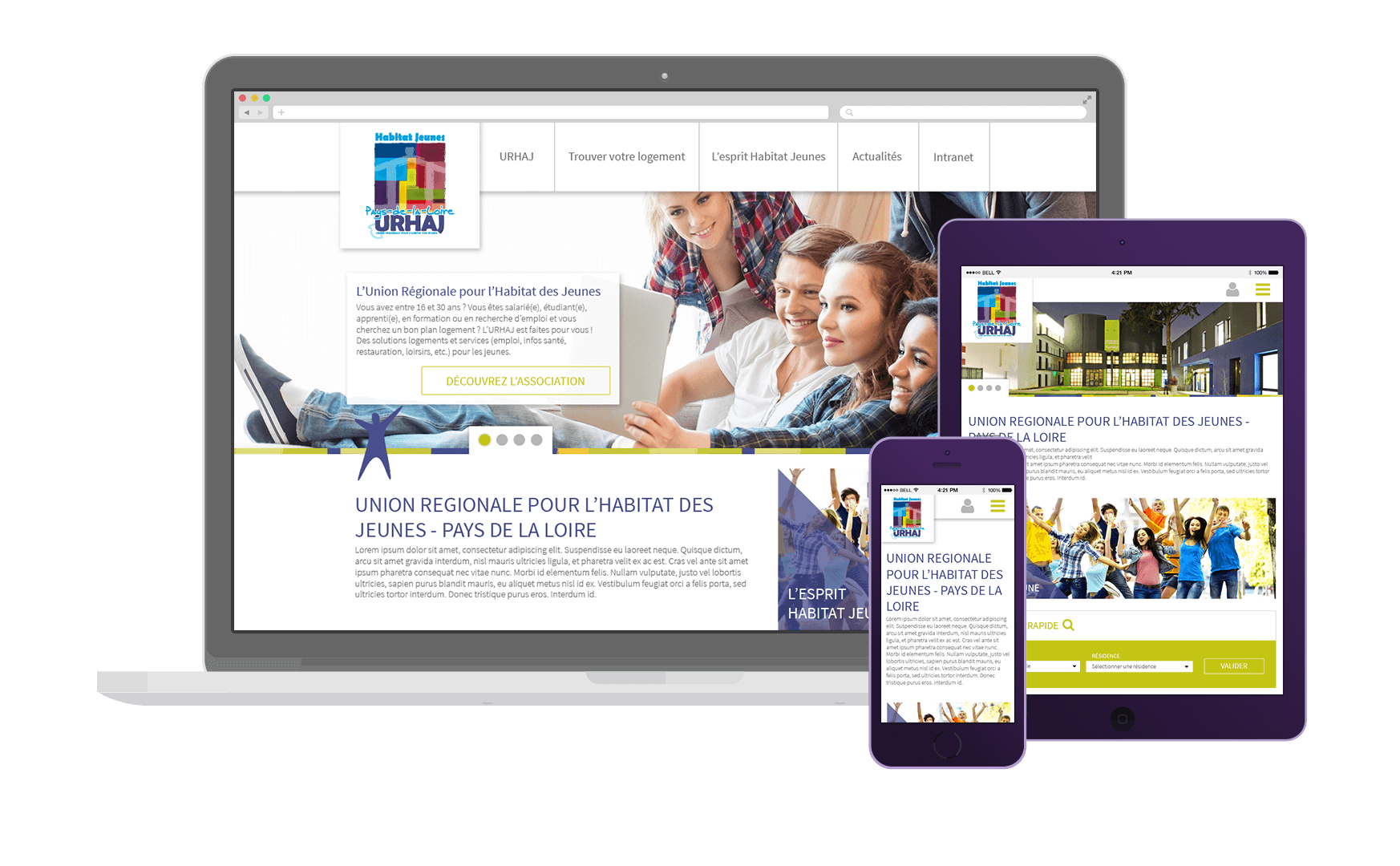 Webdesign du site vitrine de URHAJ