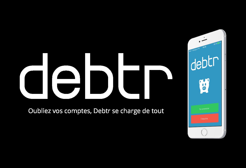 Design du logo de l'application mobile Debtr